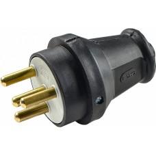 Вилка каучукова 3Р+РЕ 25А IP44 АСКО A0250010003