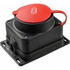 Розетка каучукова з захисною кришкою 3Р+РЕ зовнішньої установки 25А IP44 АСКО A0250010007