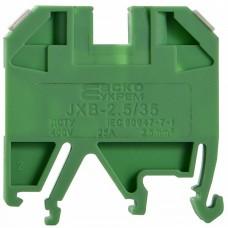 Клемник JXB 2,5/35 на Din-рейку зелений АСКО A0130010010
