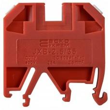 Клемник JXB 2,5/35 на Din-рейку червоний АСКО A0130010033