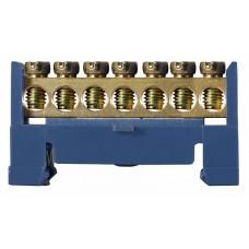 BC-507 6х9 7 отв. Нульова шина на Din-рейку АСКО A0150120032