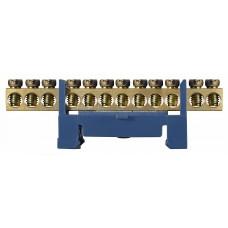 BC-512 6х9 12 отв. Нульова шина на Din-рейку АСКО A0150120035
