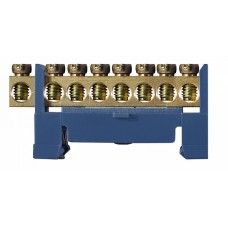 BC-508 6х9 8 отв. Нульова шина на Din-рейку АСКО A0150120033