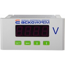 Вольтметр АСКО-УКРЕМ AС модель ЦВ-5 600В 96х48 цифровий A0190010122