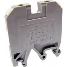 Клемник JXB- 4/35 на Din-рейку сірий АСКО A0130010002