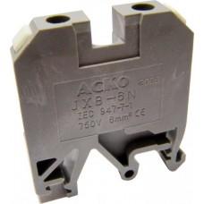 Клемник JXB- 6/35 на Din-рейку сірий АСКО A0130010003