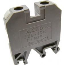 Клемник JXB-10/35 на Din-рейку сірий АСКО A0130010004