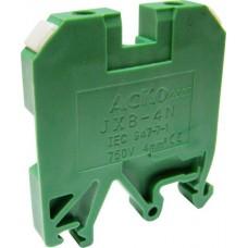 Клемник JXB 4/35 на Din-рейку зелений АСКО A0130010012