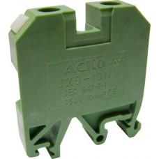 Клемник JXB 10/35 на Din-рейку зелений АСКО A0130010016