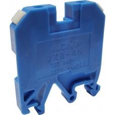 Клемник JXB- 4/35 на Din-рейку синій АСКО A0130010023