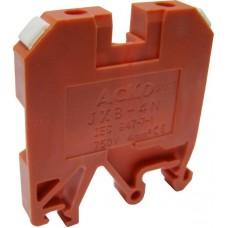 Клемник JXB 4/35 на Din-рейку червоний АСКО A0130010034