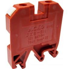 Клемник JXB 6/35 на Din-рейку червоний АСКО A0130010035