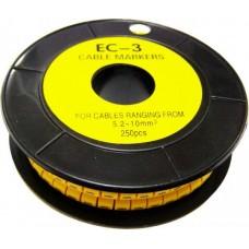 Кабельна маркіровка ЕС-3 5,2-10 мм2  (--)  АСКО