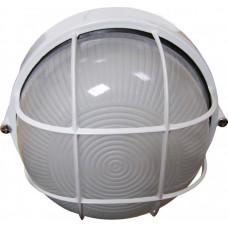 Світильник круглий 0302 білий (чорний) з решіткою 60W Е27 ІР54 АСКО A0180010010