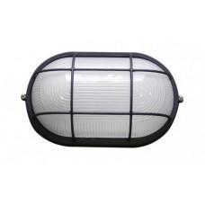 Світильник овальний 0202 білий з решіткою 100W Е27 ІР54 АСКО A0180010034