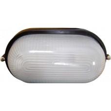Світильник овальний 0401 білий (чорний) 60W Е27 ІР54 АСКО A0180010041