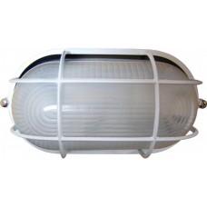 Світильник овальний 0402 білий (чорний) з решіткою 60W Е27 ІР54 АСКО A0180010042