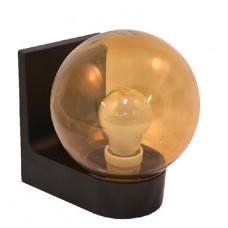 Світильник настінний 613 плафон: куля димчаста гладка 220В/15Вт АСКО A0180080114