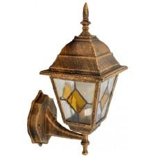Світильник садово-парковий 602S античне золото/вітражне скло 220В/60Вт АСКО A0180080100