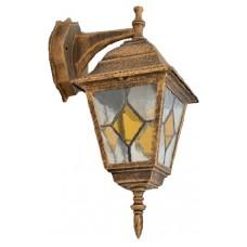 Світильник садово-парковий 672S античне золото/вітражне скло 220В/60Вт АСКО A0180080106