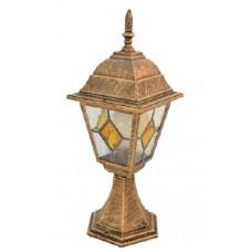 Світильник садово-парковий 642S античне золото/вітражне скло 220В/60Вт АСКО A0180080102