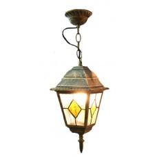 Світильник садово-парковий 652S античне золото/вітражне скло 220В/60Вт АСКО A0180080104
