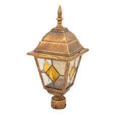 Світильник садово-парковий 662S античне золото/вітражне скло 220В/60Вт АСКО A0180080108