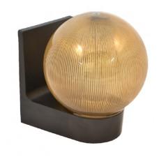 Світильник настінний 623 плафон: куля димчаста ребриста 220В/15Вт АСКО A0180080115
