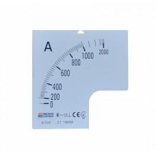 Шкала 1000/5А до амперметра  А-72-6 АСКО A0190010077