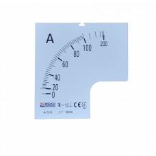 Шкала 100/5А до до амперметра А-72-6 АСКО A0190010069