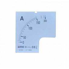 Шкала 150/5А до амперметра А-72-6 АСКО A0190010070