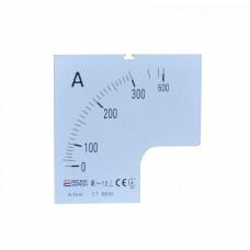 Шкала 300/5А до амперметра А-72-6 АСКО A0190010072