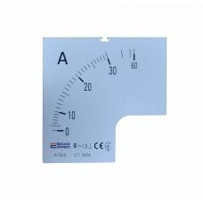 Шкала 30/5А до амперметра А-72-6 АСКО A0190010067