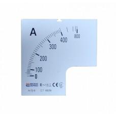 Шкала 400/5А до амперметра А-72-6 АСКО A0190010073