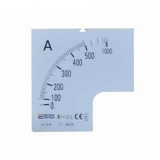Шкала 500/5А до амперметра А-72-6 АСКО A0190010074