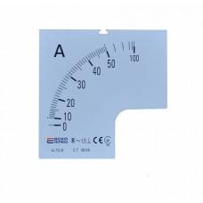 Шкала 50/5А до до амперметра А-72-6 АСКО A0190010068