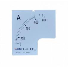 Шкала 600/5А до амперметра А-72-6 АСКО A0190010075
