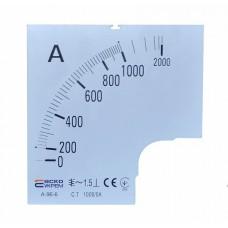 Шкала 1000/5А до амперметра А-96-6 АСКО A0190010089