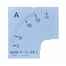 Шкала 150/5А до амперметра А-96-6 АСКО A0190010082