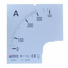 Шкала 300/5А до амперметра А-96-6 АСКО A0190010084
