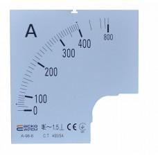 Шкала 400/5А до амперметра А-96-6 АСКО A0190010085