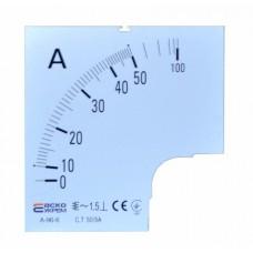 Шкала 50/5А до амперметра А-96-6 АСКО A0190010080