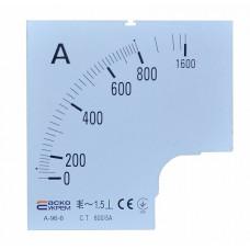 Шкала 800/5А до амперметра А-96-6 АСКО A0190010088