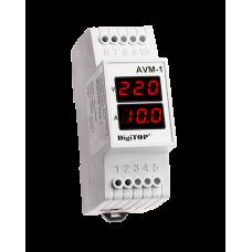 Амперметр DigiTOP AVM-1 (зовнішній ТТ) 1-ф на DIN-рейку