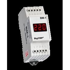 Вольтметр DigiTOP ВМ-1 діючого значення напруги на DIN-рейку
