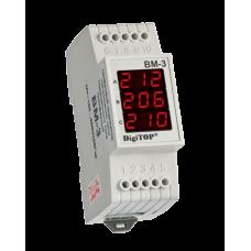 Вольтметр DigiTOP ВМ-3 діючого значення напруги на DIN-рейку