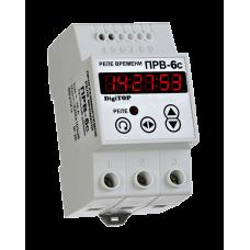 Реле часу DigiTOP РВ-6С  (програмоване-добовий режим) на DIN-рейку