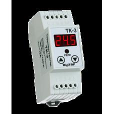 ТК-3 одноканальний циф.терморегулятор з датчиком DS18B20 на DIN-рейку DigiTOP
