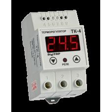 ТК-4 одноканальний циф.терморегулятор з датчиком DS18B20 на DIN-рейку DigiTOP