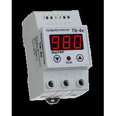 ТК-4К одноканальний циф.терморегулятор без датчика ТХА на DIN-рейку DigiTOP
